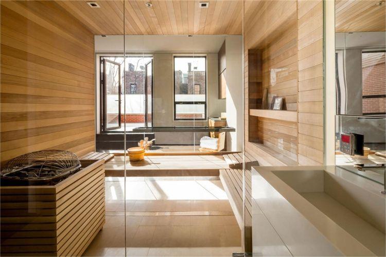 Bad Sauna Planen Beachten Modern Badezimmer Holz Dachgeschoss