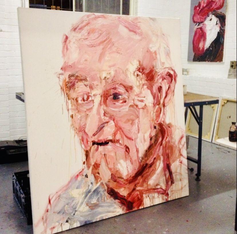 #portrait #selfportrait #contemporaryart #art #painting #detail #aesthetic #portrait #grandparents