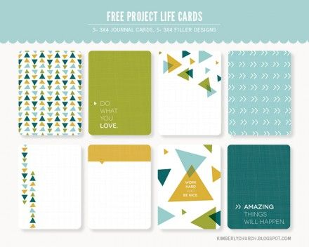 Freebie   Project Life Journaling Cards from Kimberly Church Designs