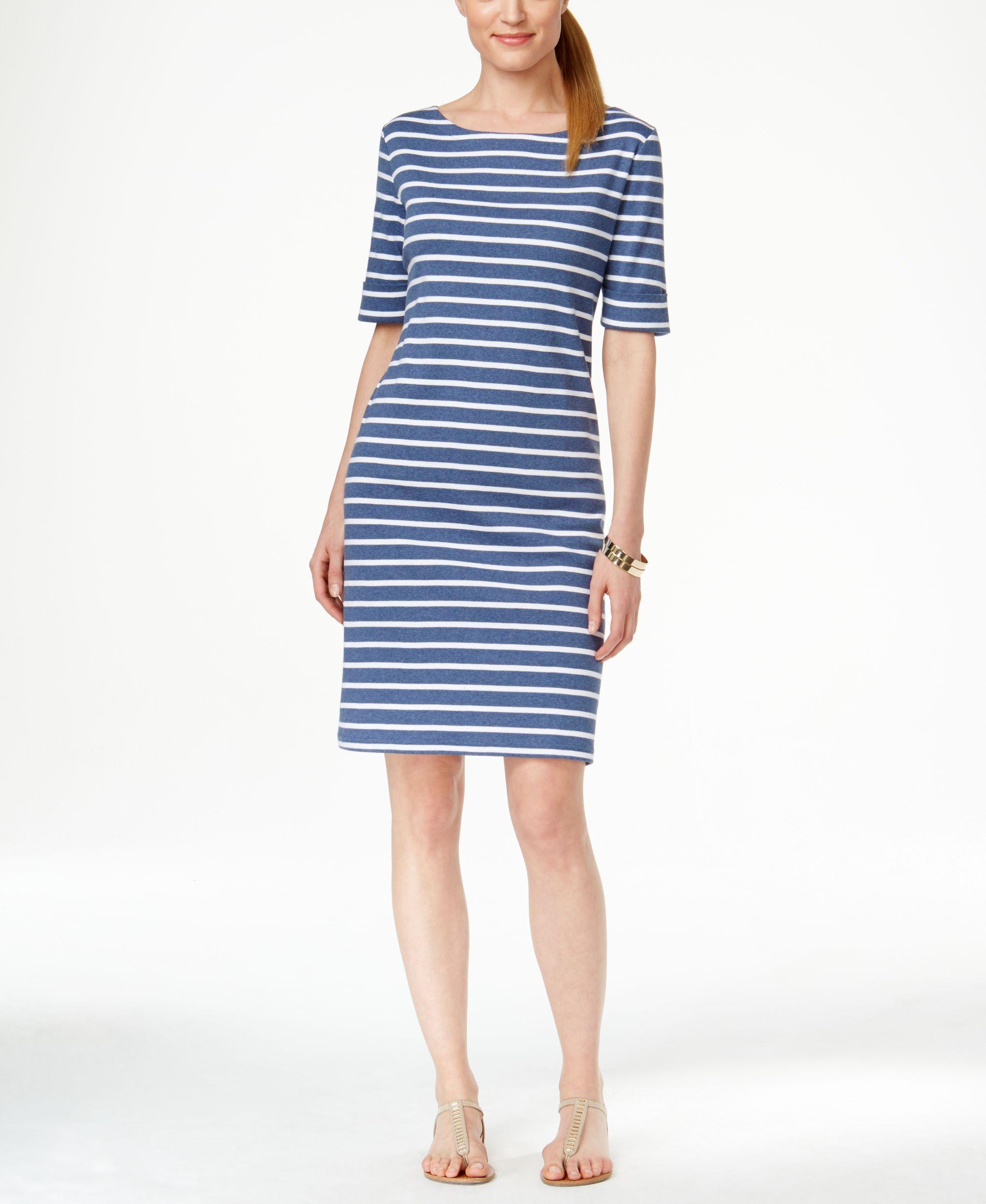 Karen scott striped shortsleeve dress only at macyus products