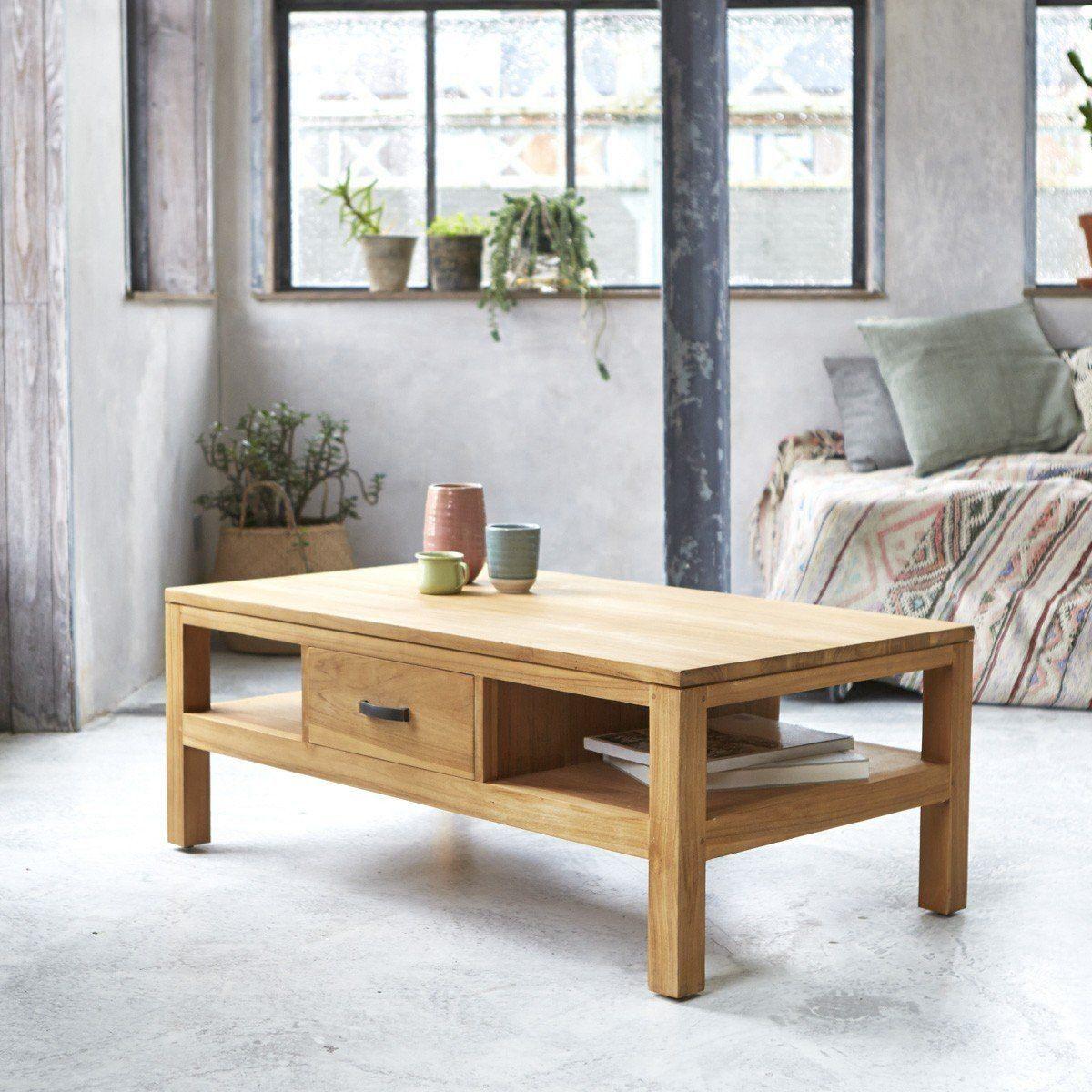 Table Basse En Teck 110x60 Vertigo Table Basse Teck Table Basse Table Basse Bois