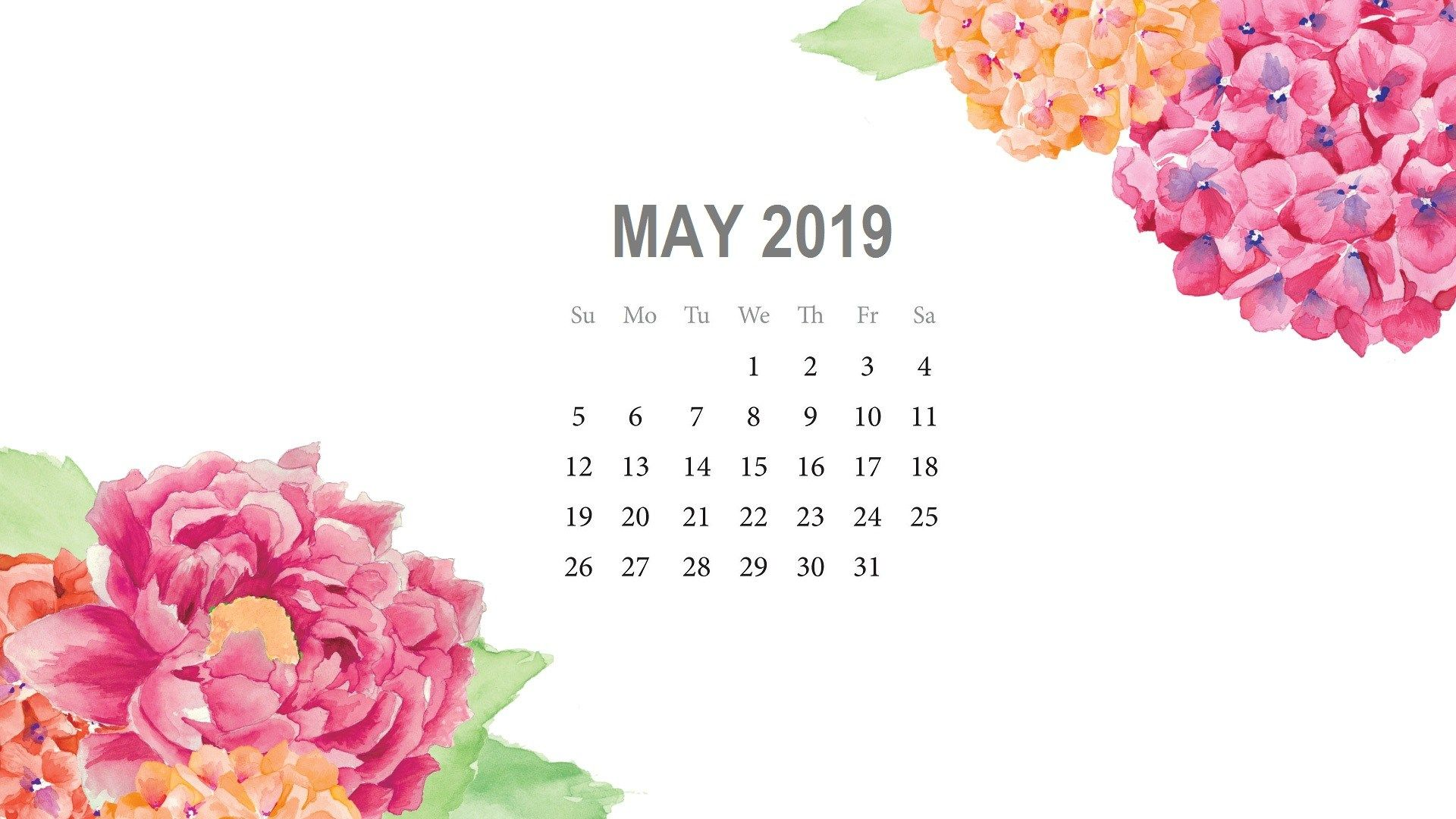 May 2019 Desktop Background Calendar Calendar wallpaper
