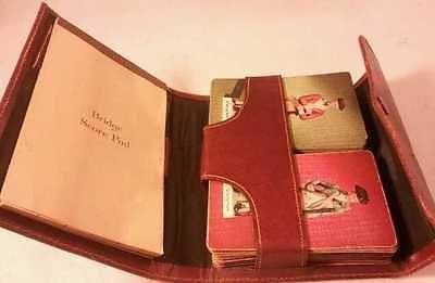 Vintage Bridge 2 Deck Set Leather Case Stardust Playing Cards
