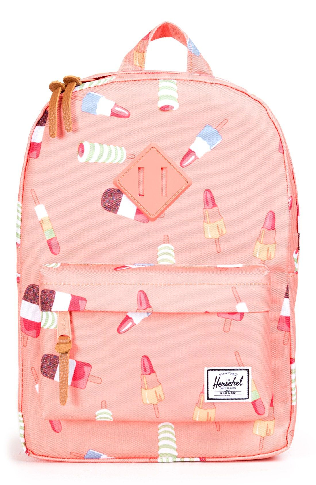 56ef6bc90f5b Every little girl will love this cute pink backpack in a fun and summery  Popsicle print.