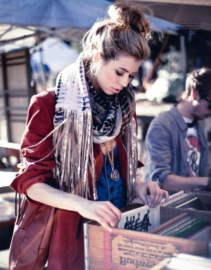 Belle fille qui aime le style boheme, comment s habiller en hiver pour  avoir ni 3b2f6f08a9f