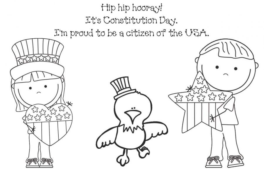 Coloring Page For Constitution Day Constitution Day Classroom