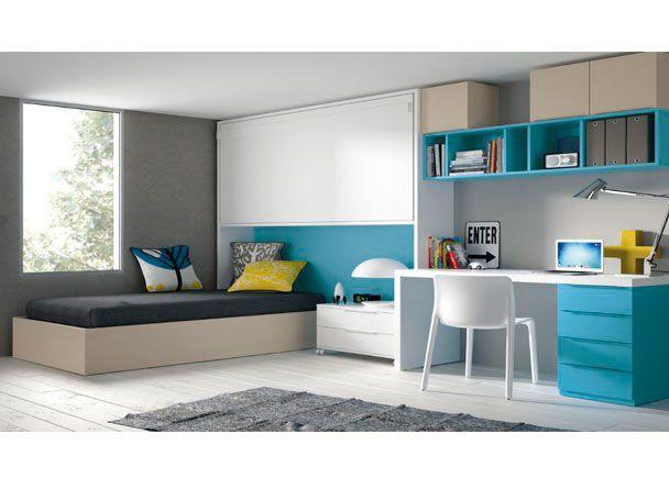 Juvenil con cama puente abatible novedades de mueble for Mueble puente juvenil