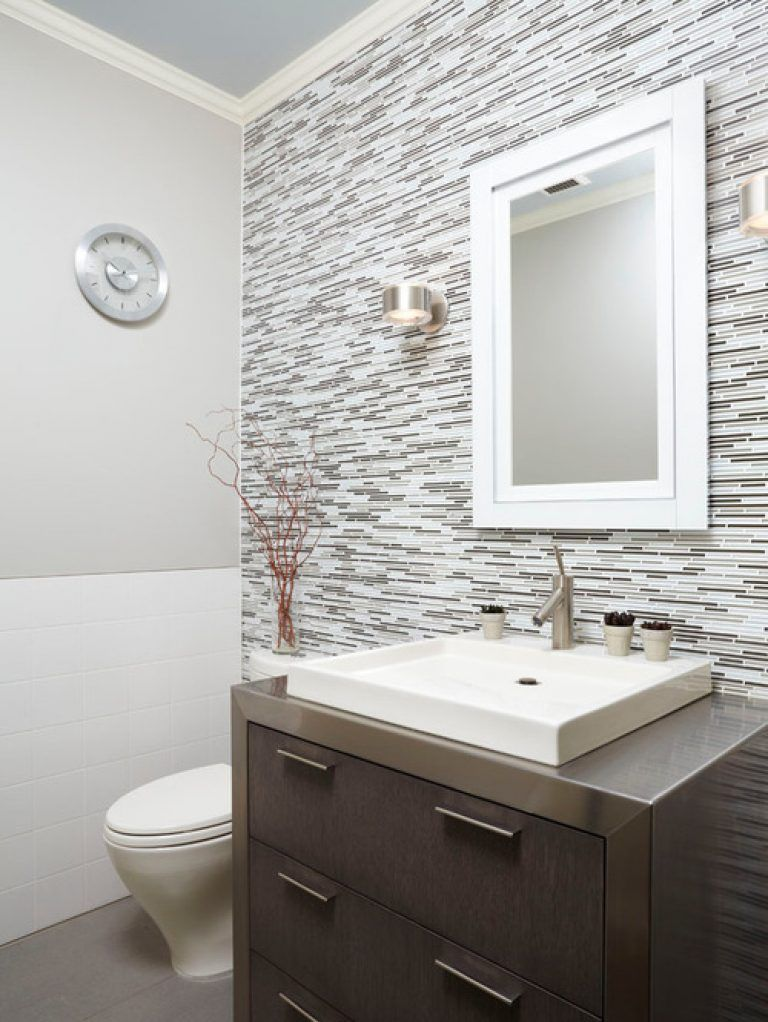 Half Bathroom Tile Ideas Half Bath Tile Home Design Ideas