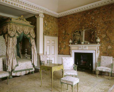 Chinese Wallpaper In National Trust Houses Georgian Interiors Discount Bedroom Furniture Interior