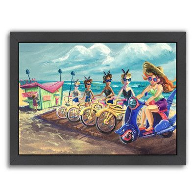 Americanflat 'Ice Scream' by Cara Kozik Framed Painting Print Size: