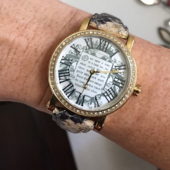 Juicy Couture Snakeskin Fairytale Watch-Beautiful Amazing watch! No scratches on crystal or missing stones! Mother of pearl face. Juicy Couture Accessories Watches