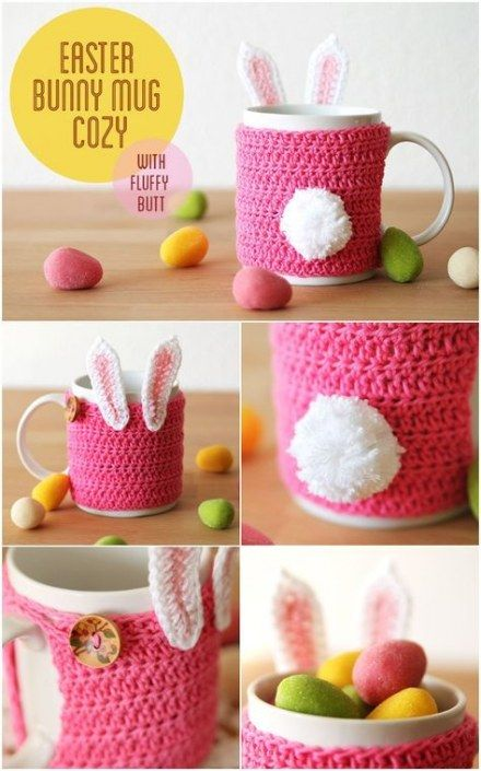 29 Trendy Crochet Ideas To Sell Mug Cozy #eastercrochetpatterns