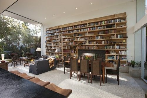 The Bookshelf (though it doesn't have to be that huge) :) --modern living room by Abramson Teiger Architects