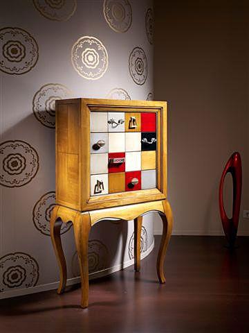 Mueble de entrada 4 cajones cibeles material madera de for Muebles originales