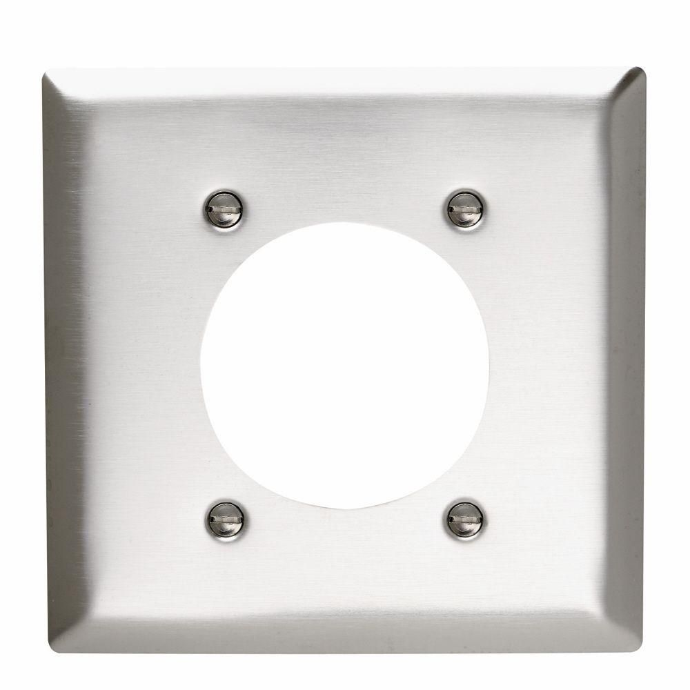 Legrand Pass Seymour 2 Gang 1 Power Outlet Wall Plate Stainless Steel Sl703cc12 With Images Plates On Wall Steel Wall Home Depot