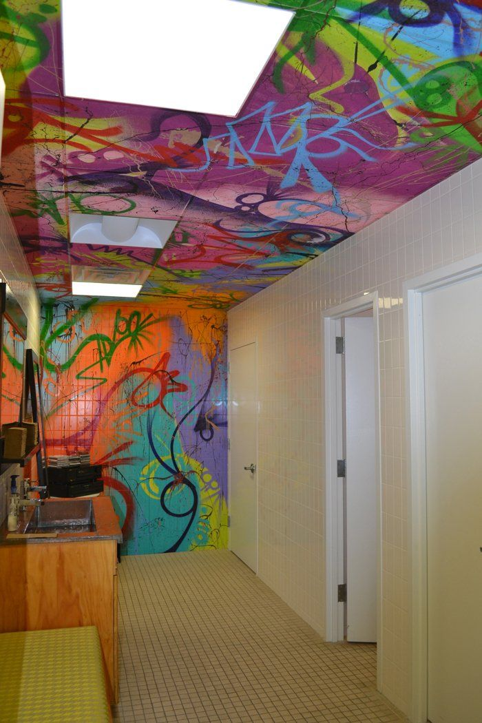 Tour the music inspired offices of cee lo green 39 s - Painting graffiti on bedroom walls ...