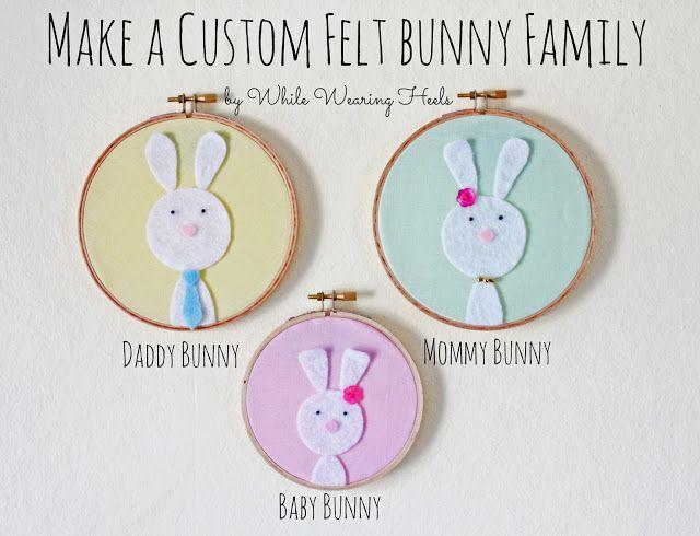 custom felt bunny family! great idea, thanks so for kind tute xox