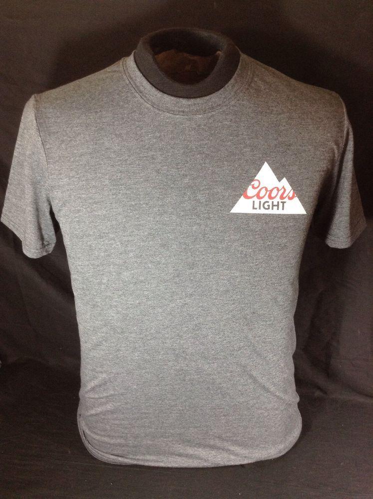 Coors Light Beer T Shirt Size Medium Charcoal Gray New! #CoorsLight  #GraphicTee #cjbeez #breweriana #beer #mancave