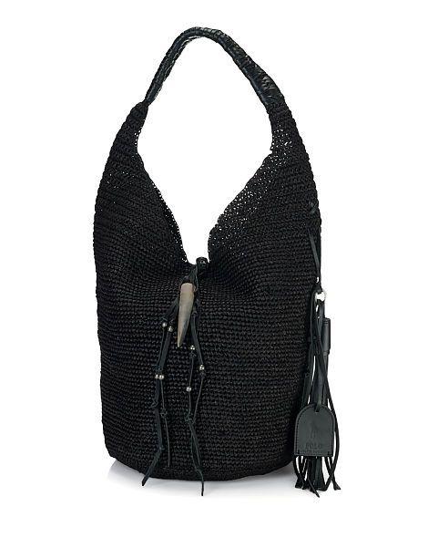 b1f45aa623 Woven Raffia Shoulder Bag - Polo Ralph Lauren Hobos   Shoulder Bags -  RalphLauren.com