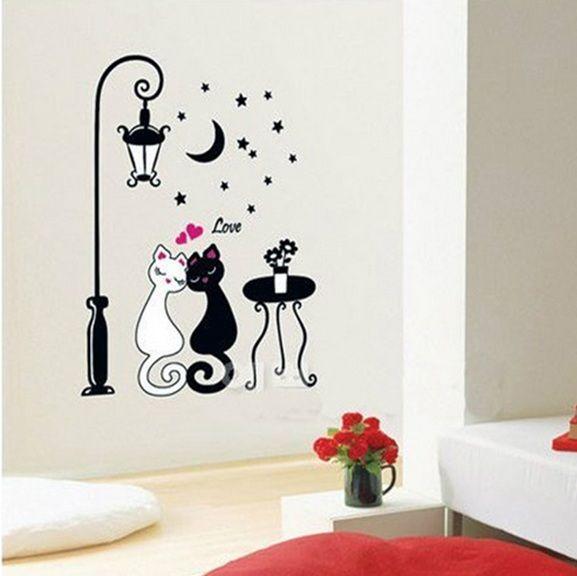 Coche de dibujos animados flor de la vid diy pegatinas de for Pegatinas vinilo decoracion
