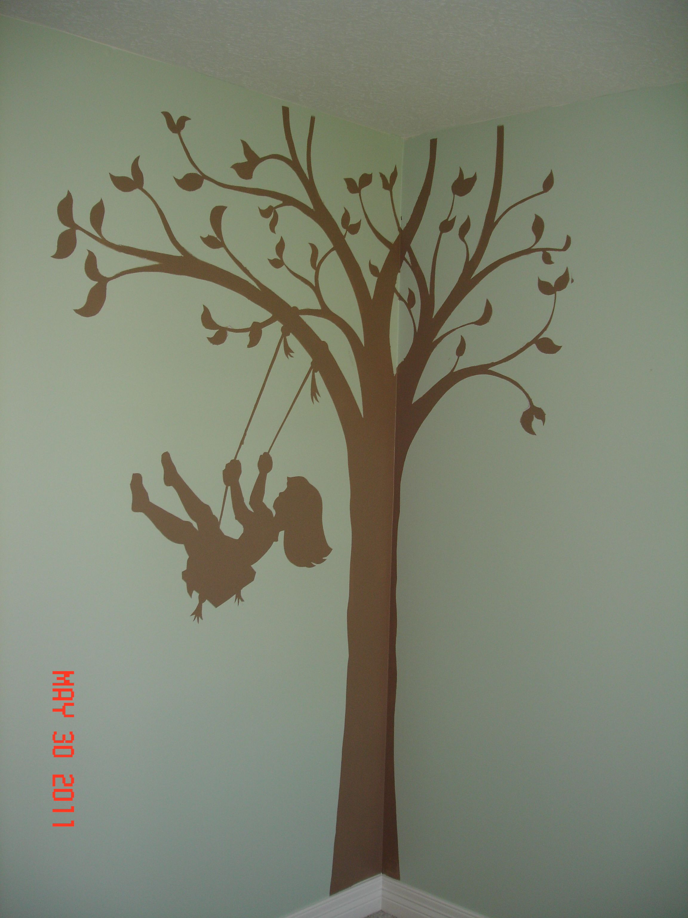 My One Moment Of Craftiness In My Baby Girls Room Stencil From
