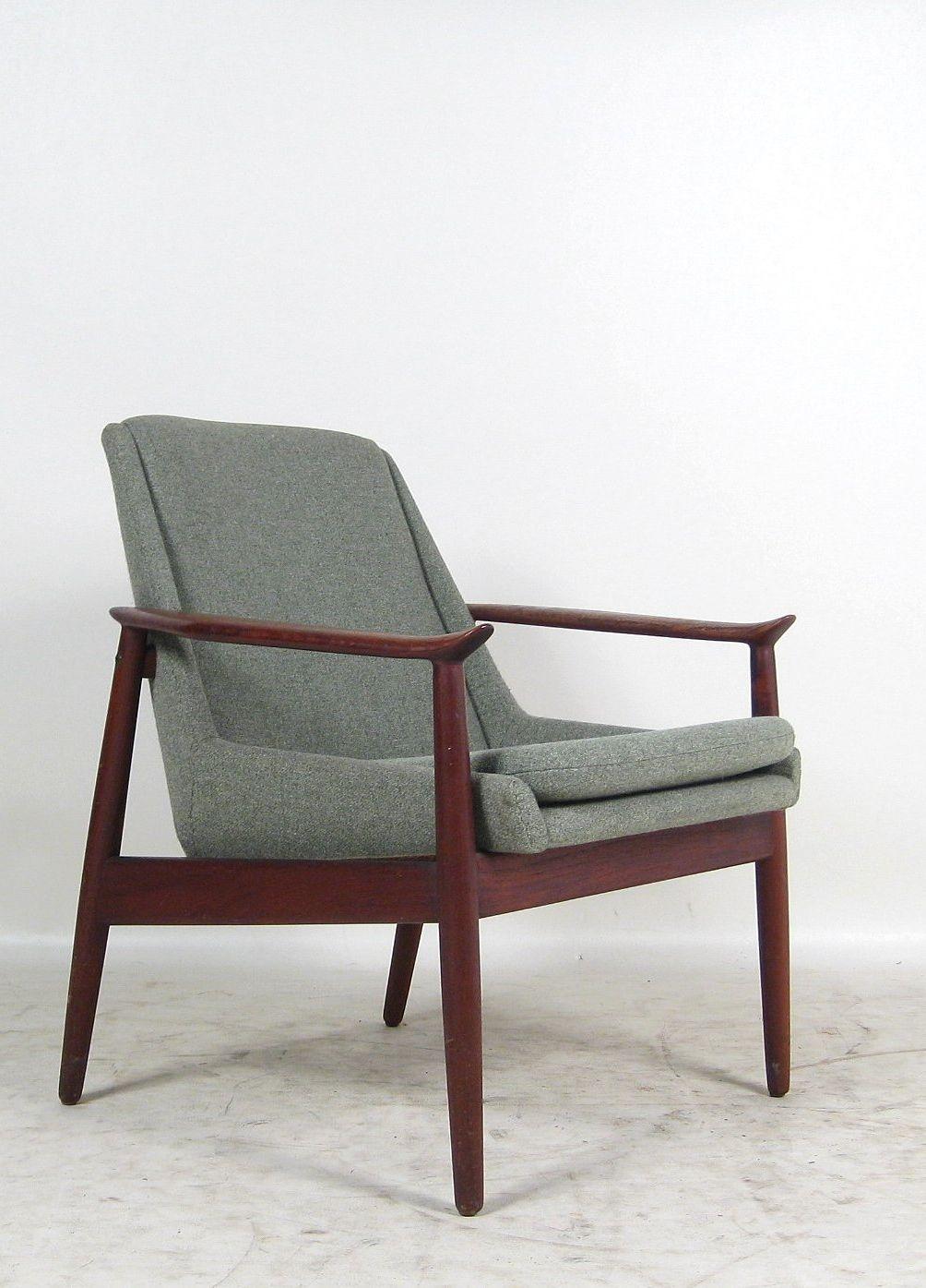 Arne vodder 810 teak armchair for slagelse m belvaerk for Sedie design danese