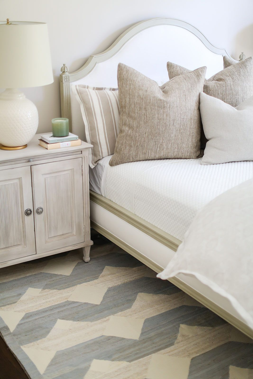 Neutral Bedroom Design Filled With Texture And Pattern