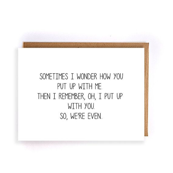 Wedding Gift Card Quotes: Funny Anniversary Gifts For Boyfriend By