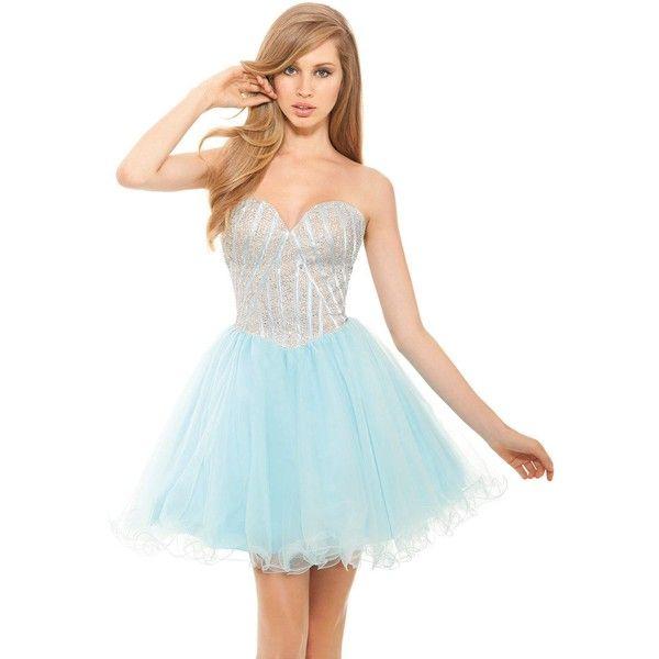 Eleni Elias P406 After Prom Mini Strapless Sleeveless ($319 ...