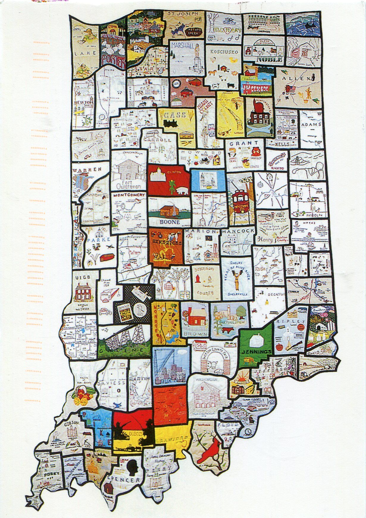 THE HOOSIER HERITAGE QUILT, a collaboration between Indiana ...