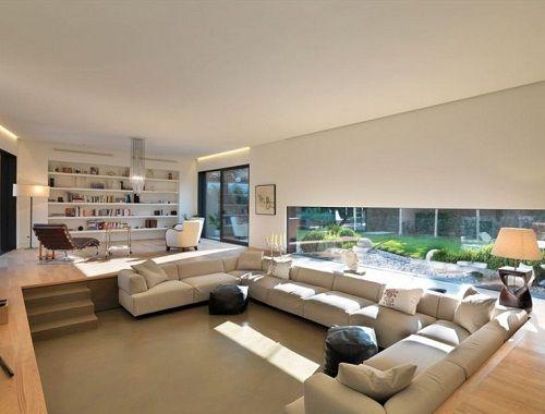 step down livingroom Step Down Pinterest Living rooms Room