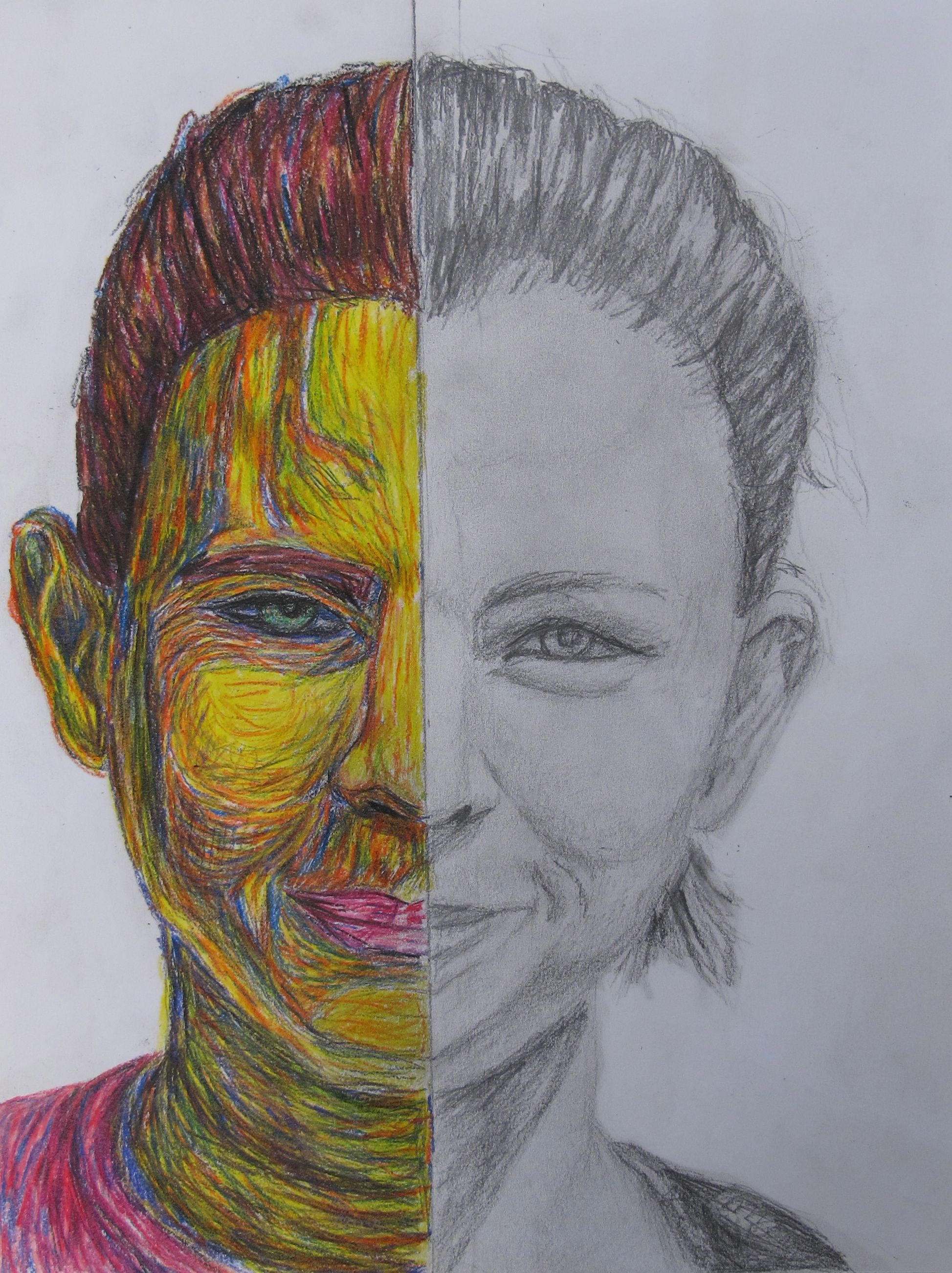 Co color to draw - Draw One Half Of Your Face In Just Pencil