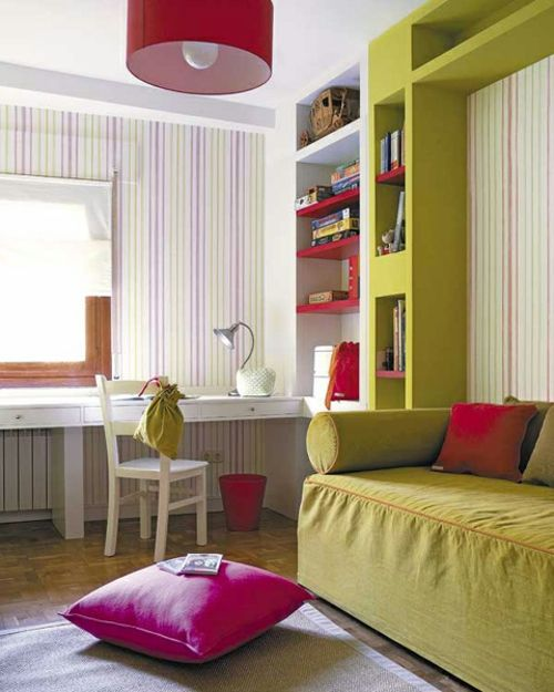 Orientalische Deko Ideen Bodenkissen Sitzkissen Pink Grün