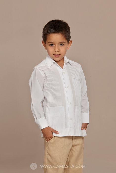 aliexpress compras disfruta el precio más bajo Guayabera de Lino para niño Camasha Guayaberas | Guayaberas ...