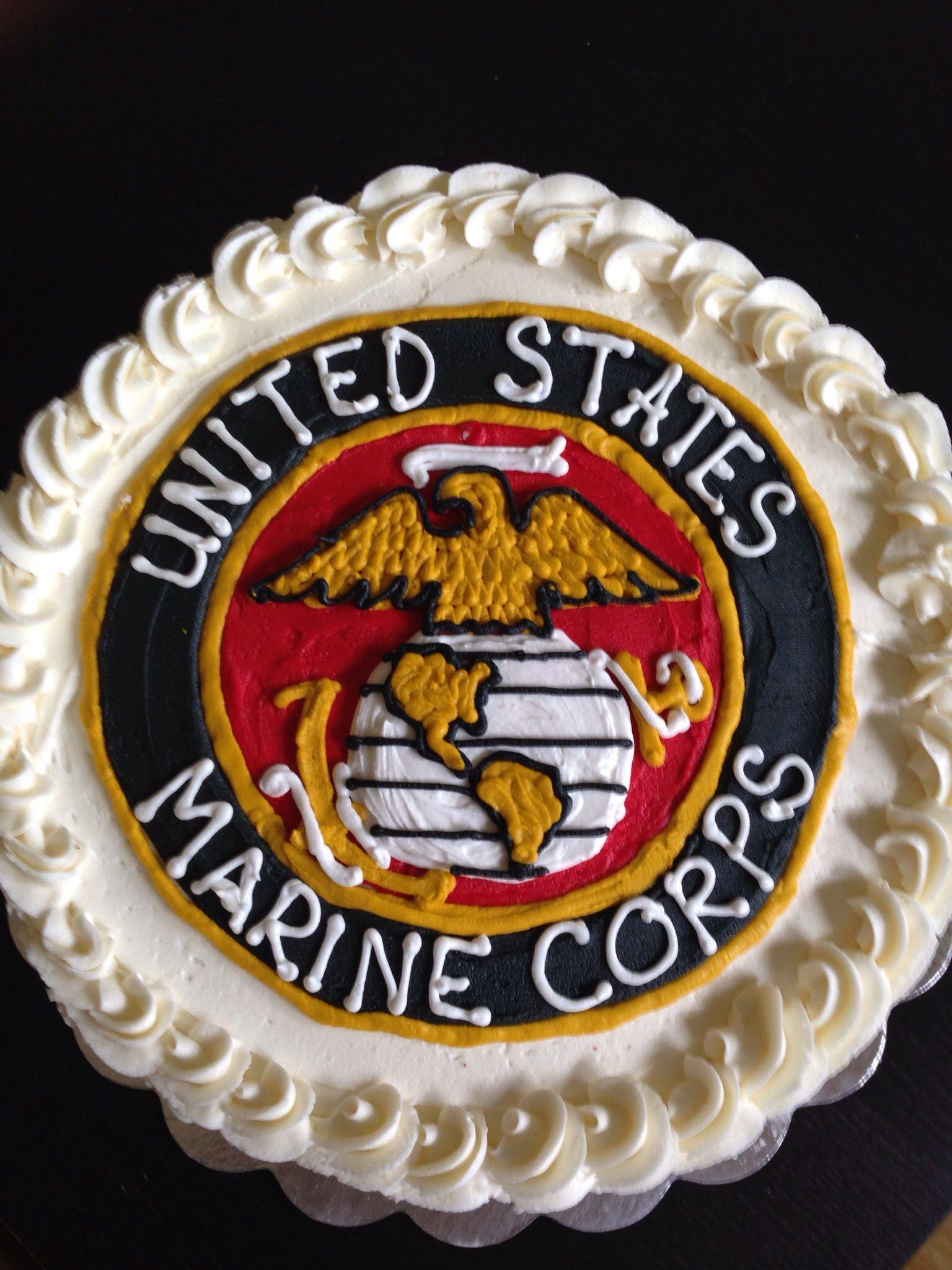 Phenomenal Marine Corps Cake Marine Corps Cake Army Cake Dad Birthday Cakes Personalised Birthday Cards Akebfashionlily Jamesorg