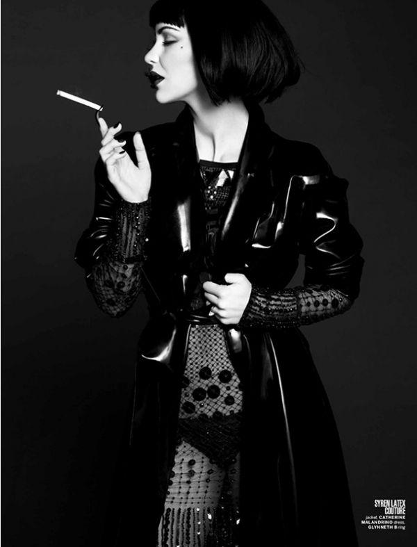 Katharine McPhee smoking a cigarette (or weed)