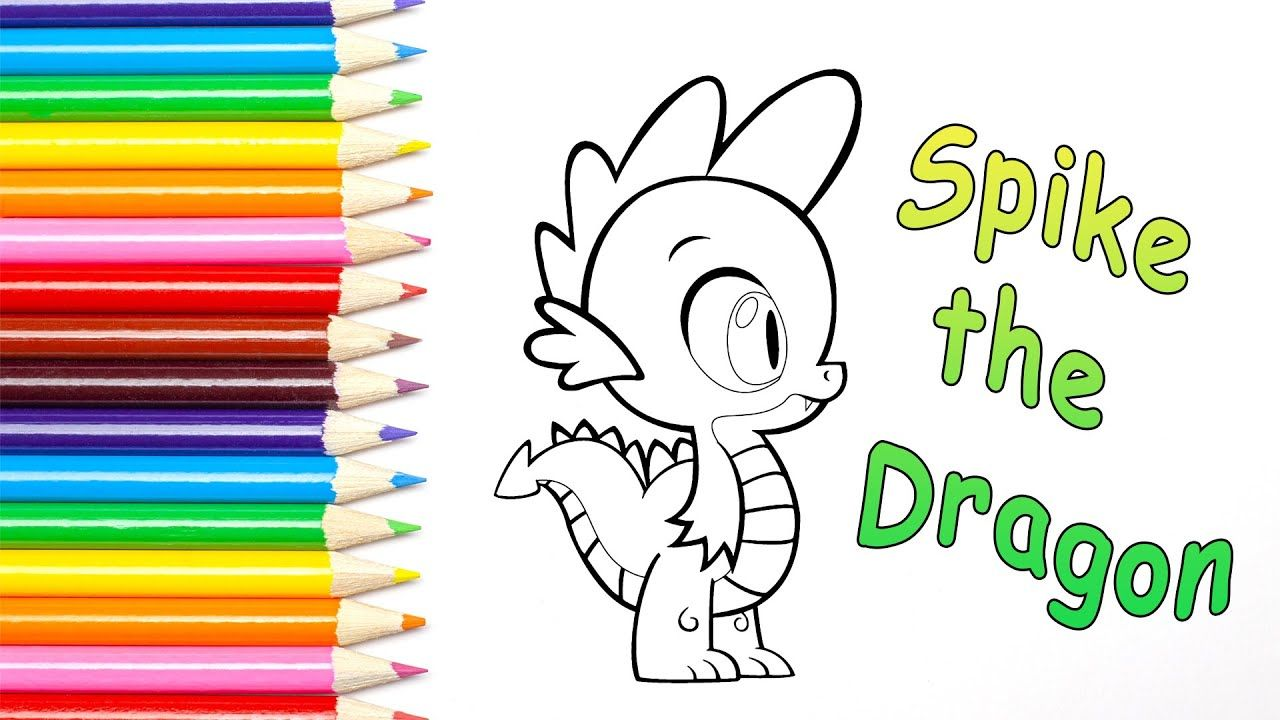 My Little Pony Colouring Book Spike The Dragon In 2020 Coloring Books Little Pony Coloring Pages