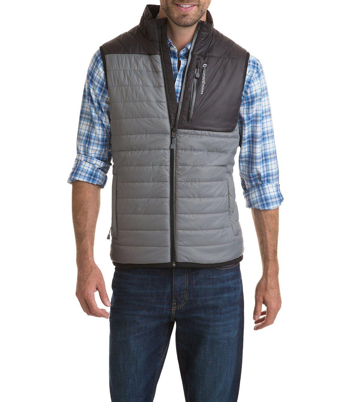 Grid fleece lined mountain weekend vest working man pinterest