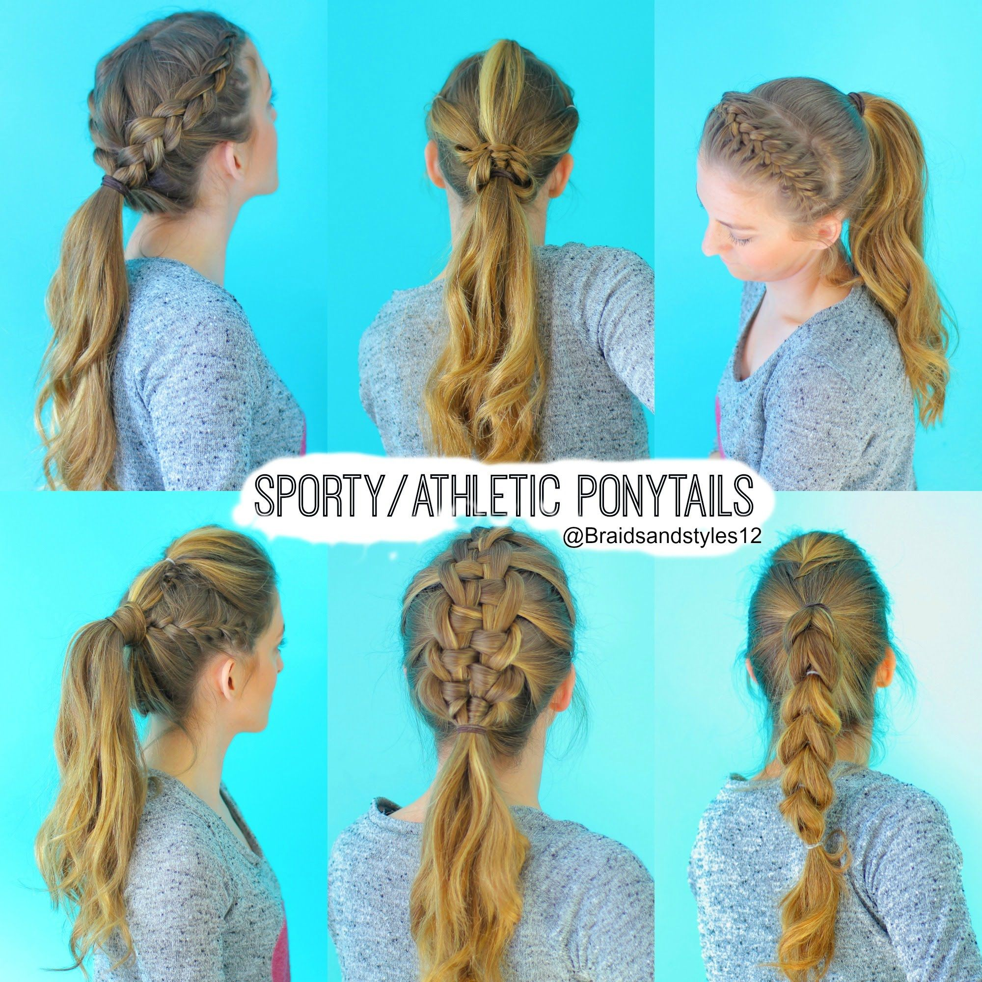 6 quick and easy sporty/athletic/workout hairstyles