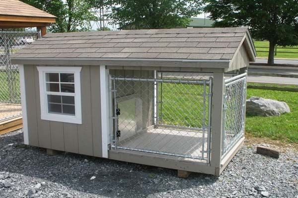 Cute Home Made Outdoor Kennel Space Dog House Plans Insulated