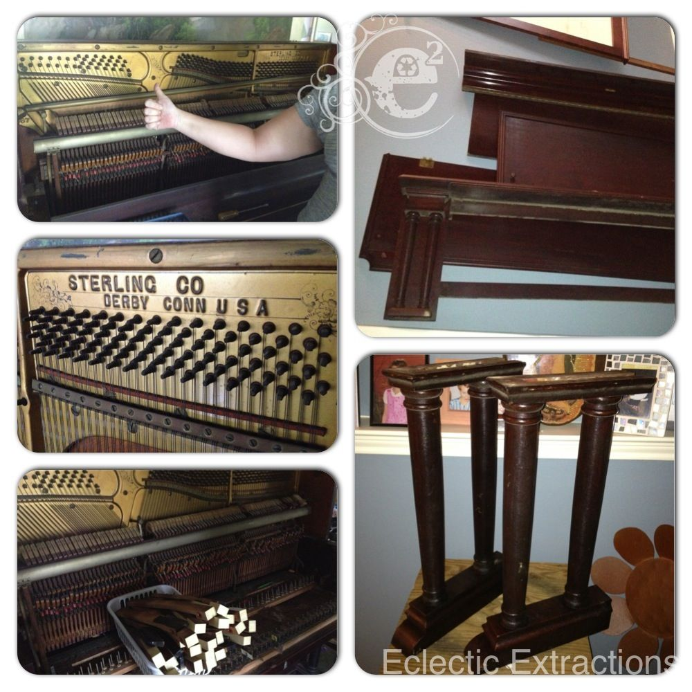 We recently deconstructed this antique piano. What will we