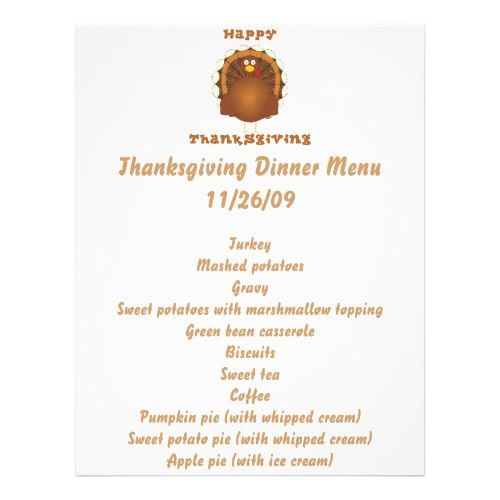 Happy Thanksgiving cartoon turkey holiday letter Flyer 2017 - holiday letter