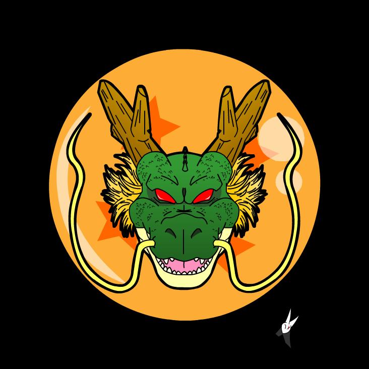 Shenlong head logo / Dragon ball z by Kaji-zu on DeviantArt