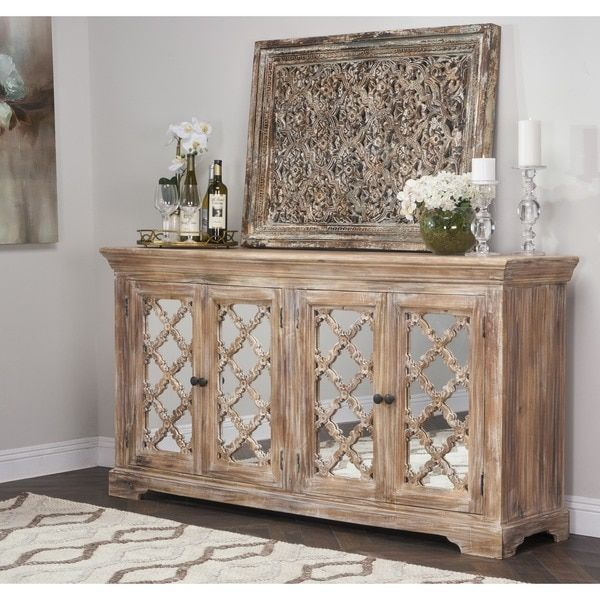 Unique Buffet Cabinet with Mirror