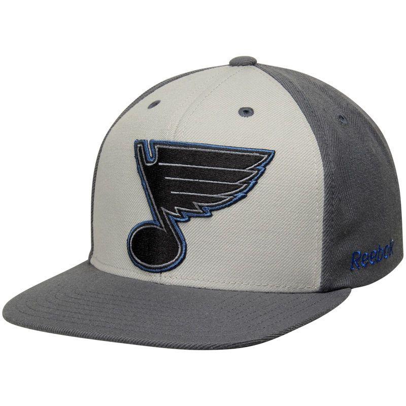 7fe92f1b8b9 Reebok St. Louis Blues Gray Crosscheck Snapback Adjustable Hat ...