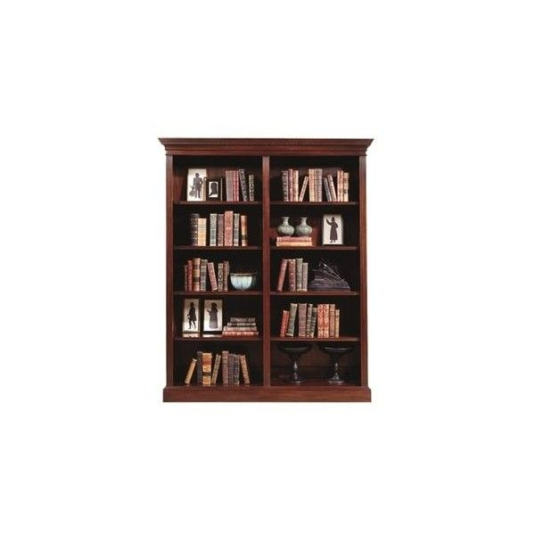Henkel Harris Four Shelf Double Bookcase 8 180 Liked On Polyvore Featuring Home Furniture Storage She Adjustable Bookcases Shelves Adjustable Shelving