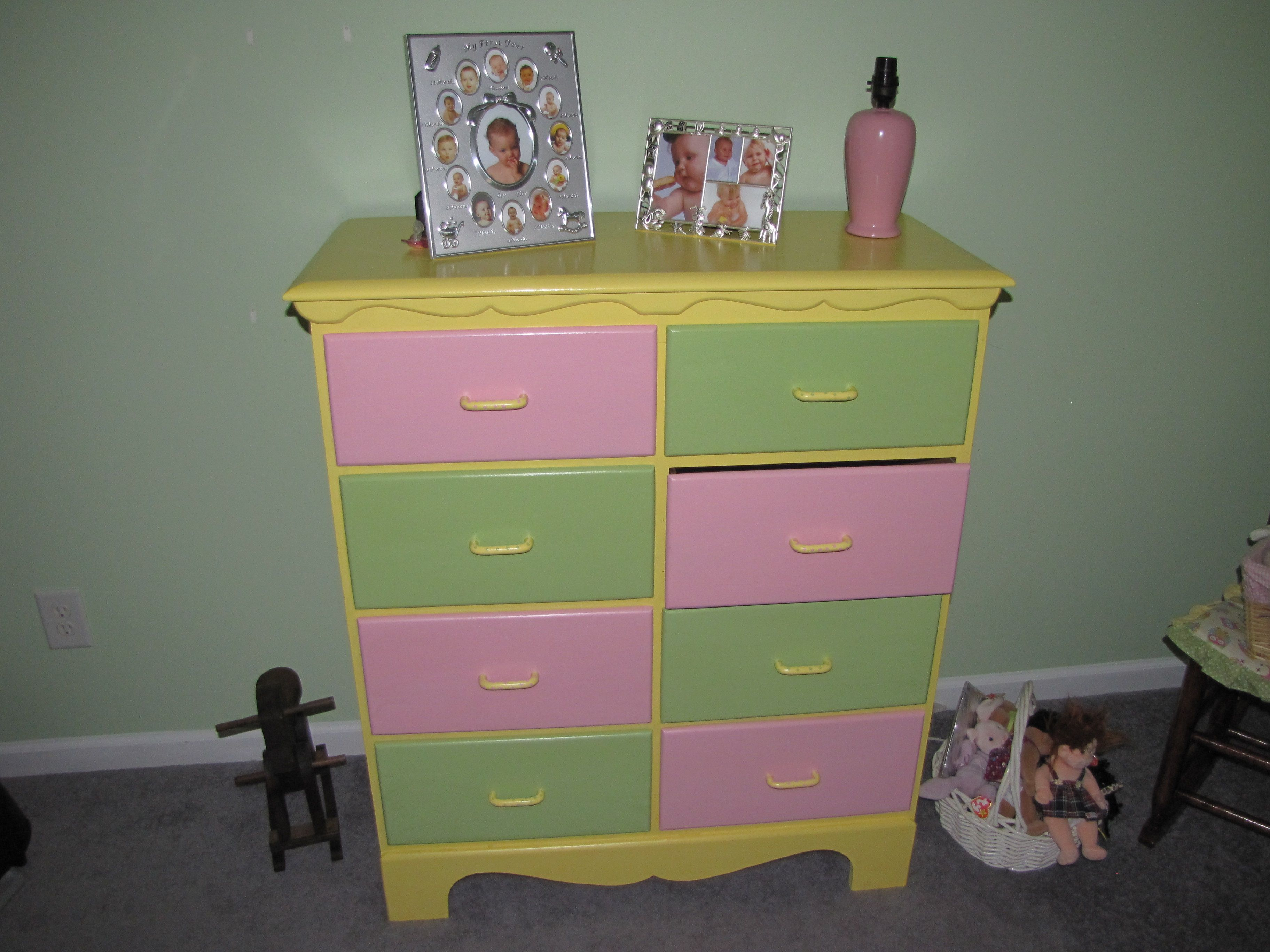 Awesome dresser. My mom did her thing.