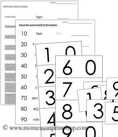 Ten Boards Teen Beads And Teen Worksheets Printable Montessori