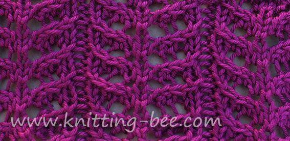 Branch Lace Knitting Stitch Pattern Knitting Ideas Pinterest