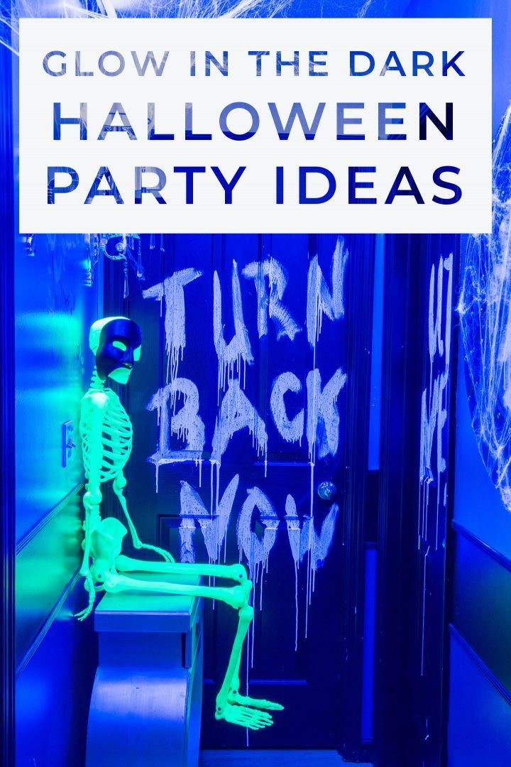 I love these glow in the dark Halloween decor ideas! They'll be perfect for my scary Halloween party.   DIY Halloween Decor